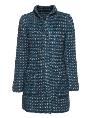 ANNECLAIRE Straight Wool Blue