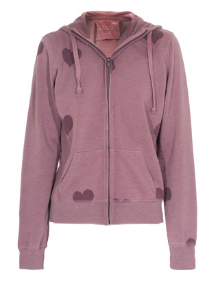 JUVIA Heart Zip Purple