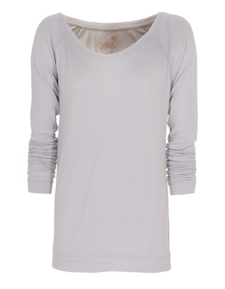 JUVIA Jersey Raglan Light Grey