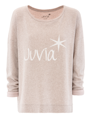 JUVIA Label Loose Sweat Heather Beige