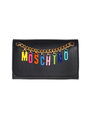MOSCHINO Colour Letter Chain Black