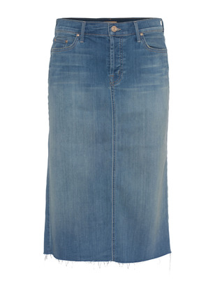 MOTHER Easy A Skirt Blue