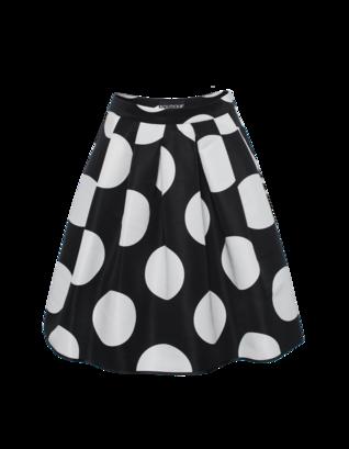 BOUTIQUE MOSCHINO Dots Flare Black White