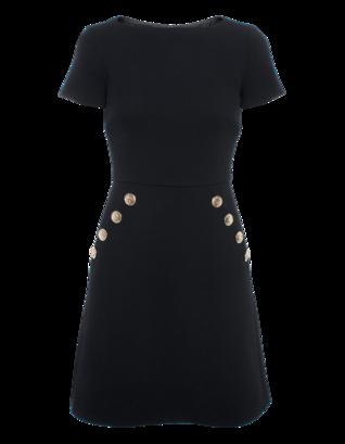 BOUTIQUE MOSCHINO New Skala Button Black