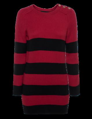 BOUTIQUE MOSCHINO Striped Mini Red Black