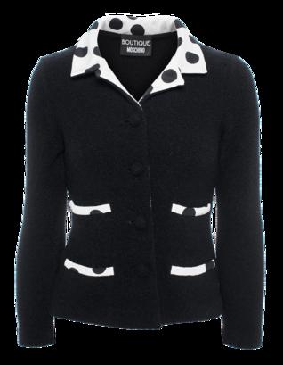 BOUTIQUE MOSCHINO Wool Silk Dots Black