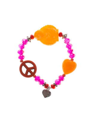 YUTA PASCH Buddha Peace Heart Orange Pink
