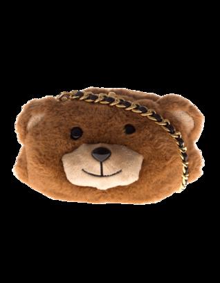 MOSCHINO Fluffy Bear Shoulder Brown