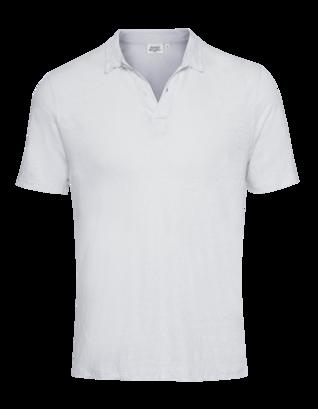 HARTFORD Linen Polo Light Grey