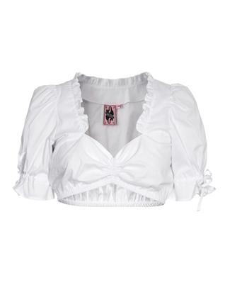 GERMAN PRINCESS Exquisite Ruffle White