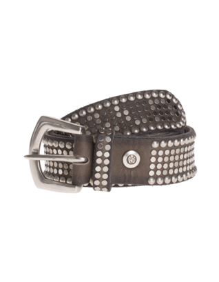 B.Belt Leather Stud Taupe
