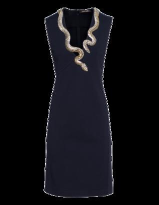 ROBERTO CAVALLI Stretch Jersey Snake Dark Blue
