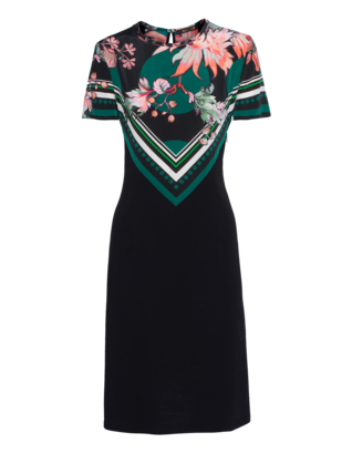 ROBERTO CAVALLI Patterned Silk Elegance Black