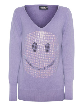 CAMOUFLAGE COUTURE STORK Soft Slim Smiley Purple