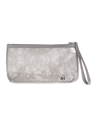 Maison Michel Dalia Clutch Mouse Grey
