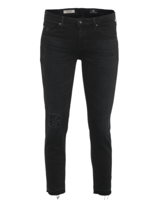 AG Jeans The Stilt Crop Repurposed Black