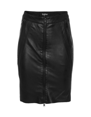 TIGHA Dree Leather Black