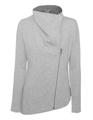 HELMUT LANG Zip Up Villous Grout Heather Grey