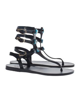 Ancient Greek Sandals Eyes High Black