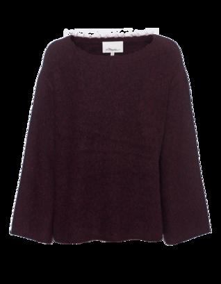 3.1 PHILLIP LIM Short Sleeve Knit Deep Red
