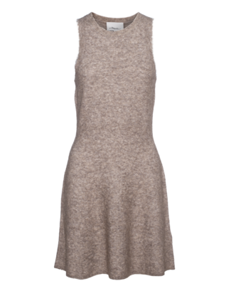 3.1 PHILLIP LIM Heathered Knit Dress Oat Meal Beige