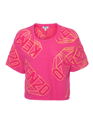 KENZO Diamond Label Crop Pink