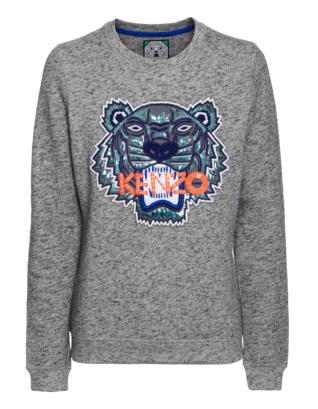 KENZO Embroidered Tiger Heathered Grey