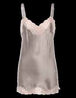 FALCON & BLOOM Romantic Cami Silk Grey Taupe