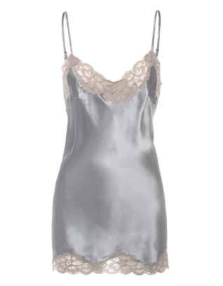 FALCON & BLOOM Romantic Cami Silk Beige Grey