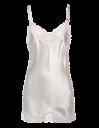 FALCON & BLOOM Romantic Cami Silk Cream Silver