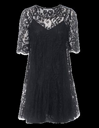 FALCON & BLOOM Romantic Floral Lace Black
