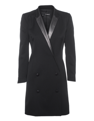 THE KOOPLES Small Leather Lapel Black
