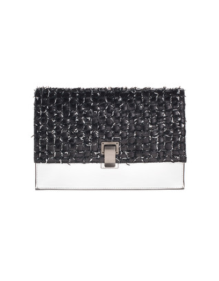 PROENZA SCHOULER Small Lunch Woven Black White