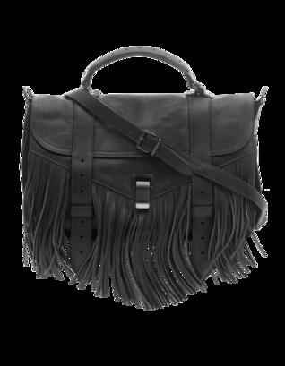 PROENZA SCHOULER PS1 Medium Fringe Lux Black
