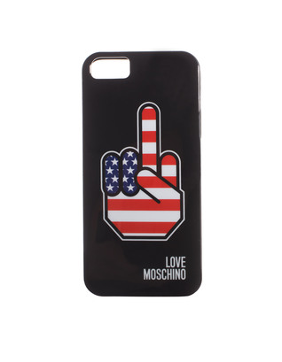 LOVE Moschino Stars Stripes Finger Black