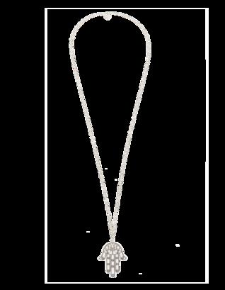 YUTA PASCH Hamsa Hand Long Silver