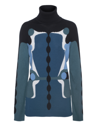 PETER PILOTTO Emerald Knit Pattern Multi Blue