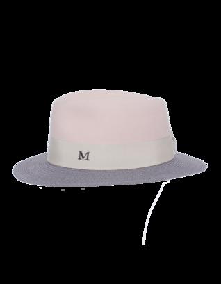 Maison Michel Andre Antic Pink Felt Grey Hemp