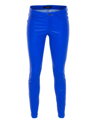 J BRAND L8001 Super Skinny Leather Electric Blue