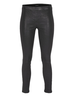 J BRAND L8227 Reptile Cropped Leather Black
