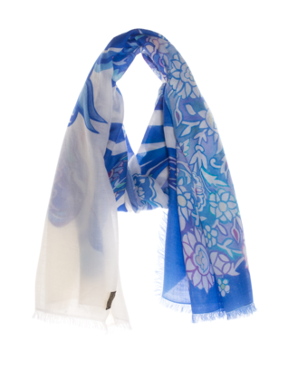 ALBEROTANZA Embroidered Horse White Blue