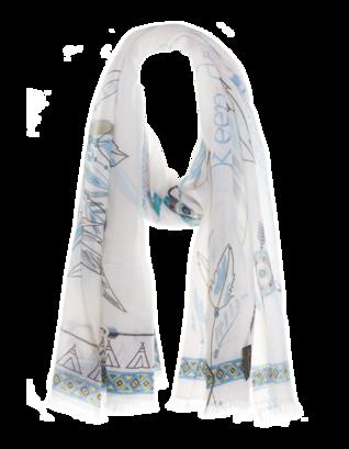 ALBEROTANZA Ethno Feathers White Blue