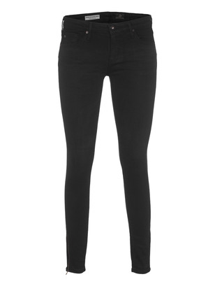 AG Jeans The Zip Up Legging Ankle Skinny Black