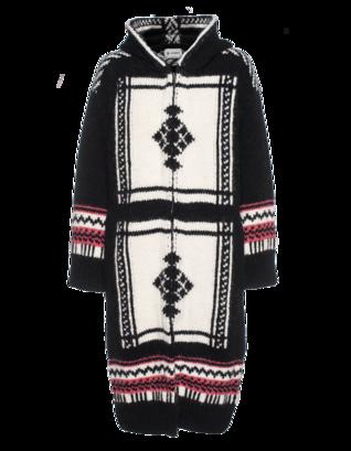 Dondup Norwegian Pattern Long Knit White