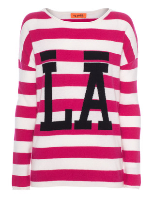 Miss Goodlife LA Stripe Pink White