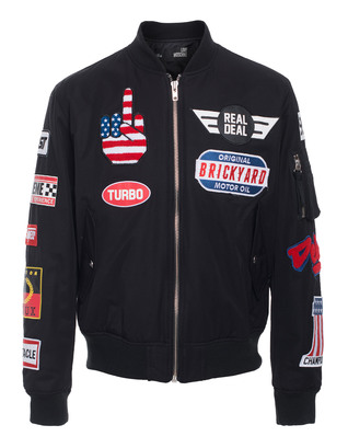 LOVE Moschino Bomber Patch Black