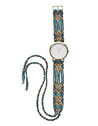 TOYWATCH Maya Wool Turquoise Woven Gold