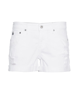 AG Jeans The Hailey Ex-Boyfriend Roll-Up White