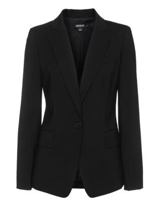 DKNY Wool Blend Clean Black