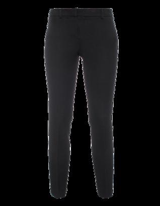 DKNY Slim Leg Crop Wool Black